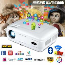 3D Home Cinema Projector 1080P WiFi Android Bluetooth Multim