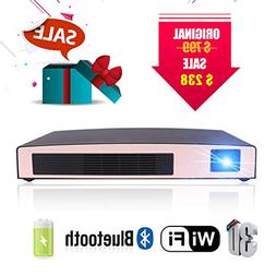 3D Mini Projector MOTOU DLP Portable LED Projector HD 8400mA