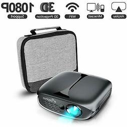 3D Mini Projector, ELEPHAS Video Projectors WiFi DLP Portabl