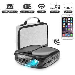 3D Mini Projector, ELEPHAS WiFi DLP Portable projector Airpl