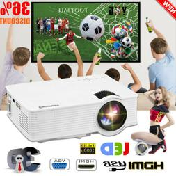 3D Portable LED LCD Projector HD 7000Lumen USB/SD/AV Home Ci
