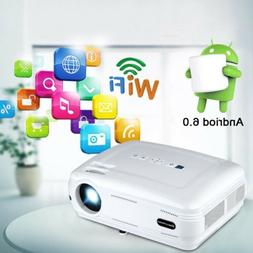 3D Wifi Full HD 1080P 6400Lumen LED Video Projector Home The