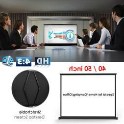 40/50 inch 4:3 HD Portable Projector Screen Home Cinema Offi