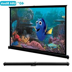 40 Inch HD Desktop Projector Screen for Home Theater Camping