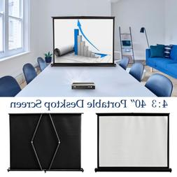 40'' Projector Screen Desktop Screen Business Meeting HD Por