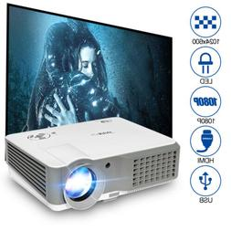HD 7000:1 Home Theater Projector 4000LMS Xbox PS4 Game Baseb