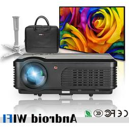 4200lm Android Home Theater Projector Wireless 1080p HDMI+10