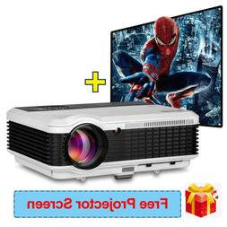 4500lms Full HD LED Projector Home Theater Video HDMI 1280*8