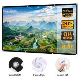 4K 150 inch 16x9 HD 3D TV Projector Screen Outdoor Movie Por
