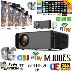 23000 Lumens 4K 1080P HD WiFi 3D LED Mini Video Theatre Proj