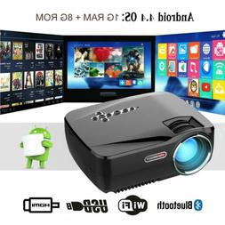 4K Full HD 1080P Projector Home Theater Movie LED HDMI VGA S