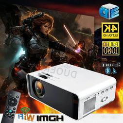 4K HD WiFi Projector 23000Lumen 1080P 3D LED Mini Video Home