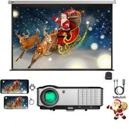 4K Home Theater Projector HDMI LED FULL HD 1080P Movies Game