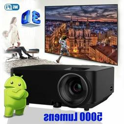 4K Wifi 5000Lumens 1080P HD Android LED Projector Smart Home