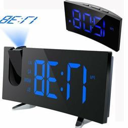 "5"" LCD Digital LED Projector Projection FM Radio Snooze Alar"