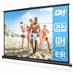 "50"" Inch Portable Projector Screen - Portable Floor Standing"