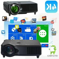 5000 LM 4K HD 1080P Projector Home Theater Movie LED  HDMI V