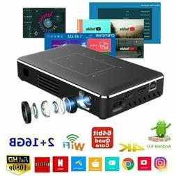 5000 Lumen DLP Android Wifi 4K HD 1080P TOUCH Projector HDMI