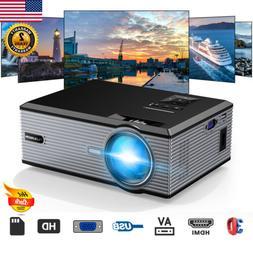 7000 Lumens 1080P 3D LED Mini Projector Multimedia Home Thea