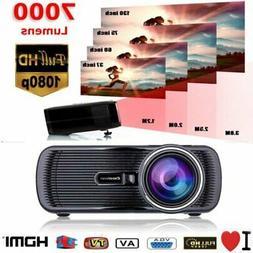 5000 Lumens Full HD 1080P LED 3D LCD VGA HDMI TV Home Theate