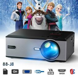 5000 Lumens Full HD 1080P LED LCD Projector Home Theater PC