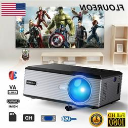 3D 1080P FULL HD 5000 Lumens LCD LED Projector Home Cinema T