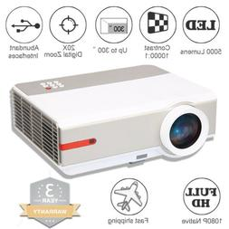 Brand New 3D 1080P 5000 Lumens 10000:1 Home Theater USB HDMI