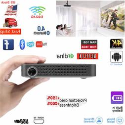 Akaso 5500 Lumens 16G DLP Android 7.0 Full HD 1080p Projecto