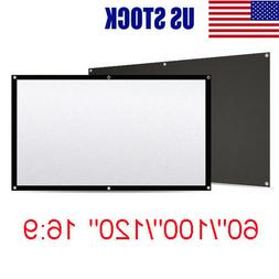 "60/""-150"" 16:9//4:3 3D HD Electric Motorized// Manual//Tripod Projector Screen Movie"