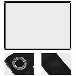 Fosa 60-100 Inch Portable Foldable Non-crease White Projecto