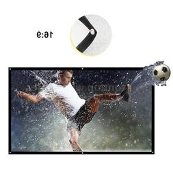 """60''/84''/100'' 120"""" 150"""" Foldable Projector Screen Home The"""