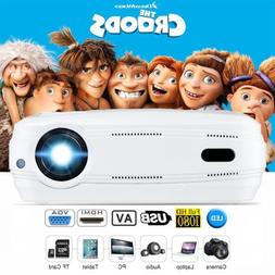 6400Lumens 1080P 3D 8G  6.0 LED Projector Home Cinema HDMI U