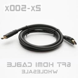 6Ft HDMI Cable Blu-Ray Projector PS3 XBOX360 Video Player PC