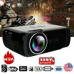 3000 Lumen Full HD 1080P LED LCD VGA HDMI TV Home Theater Pr