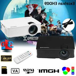 7000 LUMENS 3D FULL 1080P HD HOME MOVIE THEATER MULTIMEDIA U