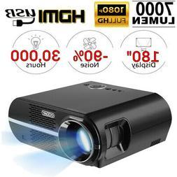7000 Lumens Full HD 1080P Projector 3D 4K HDMI USB VGA Porta