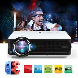 7000Lumens HD 1080P 2000:1 3D Projector Home Theater LED Mul