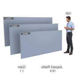 80''-120'' Portable Projector Screen HD 16:9 Frameless Wall
