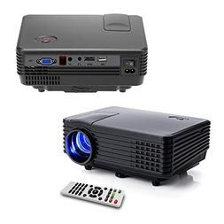 FAVI LED-3 LED LCD  Mini Video Projector - US Version  - Bla