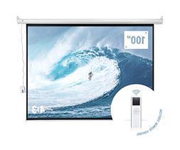 """Homegear 100"""" HD Motorized 4:3 Projector Screen W/Remote C"""