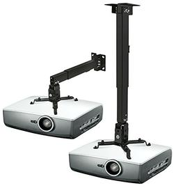 Mount-It! Wall or Ceiling Projector Mount with Universal LCD