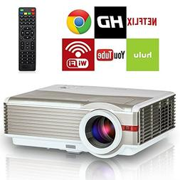Smart Wireless Android HD Projector Outdoor Movie Home Theat