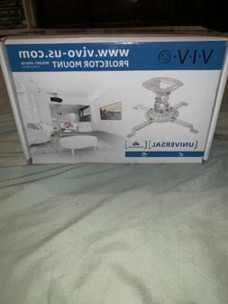 VIVO Universal Adjustable White Ceiling Projector/Projection
