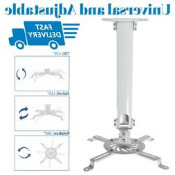 VIVO Universal Extending White Ceiling Projector Mount/Heigh