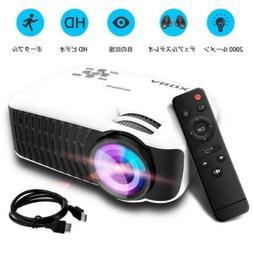ABOX T22 Mini LED Projector 2000 Lumen 1080P TV PC PS4 Fast