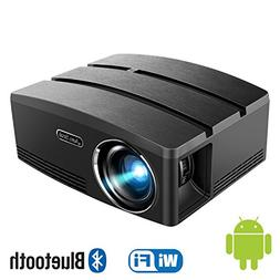 Aero Snail Android 6.0 LED Portable Projector , Built-in WiF