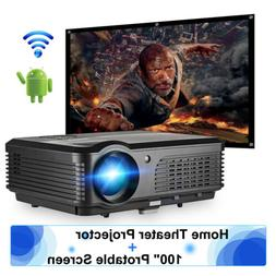 Android Home Theater Projector HD 1080p Airplay Online Game