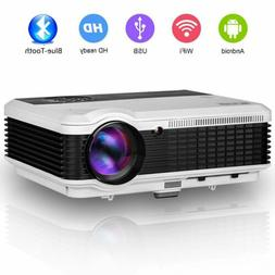 Android Projector Wireless Blue-tooth Wifi 1080P Video Movie