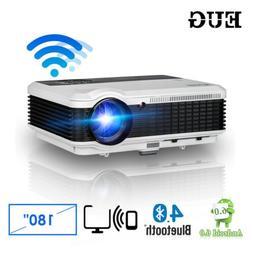 Android WiFi LCD Bluetooth Projector HDMI USB VGA AV Home Ci