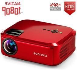 Projector 5500 Lux Crenova Native 1080P LED Projector Full H